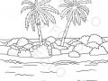 palme-e-cespugli-su-un-isola