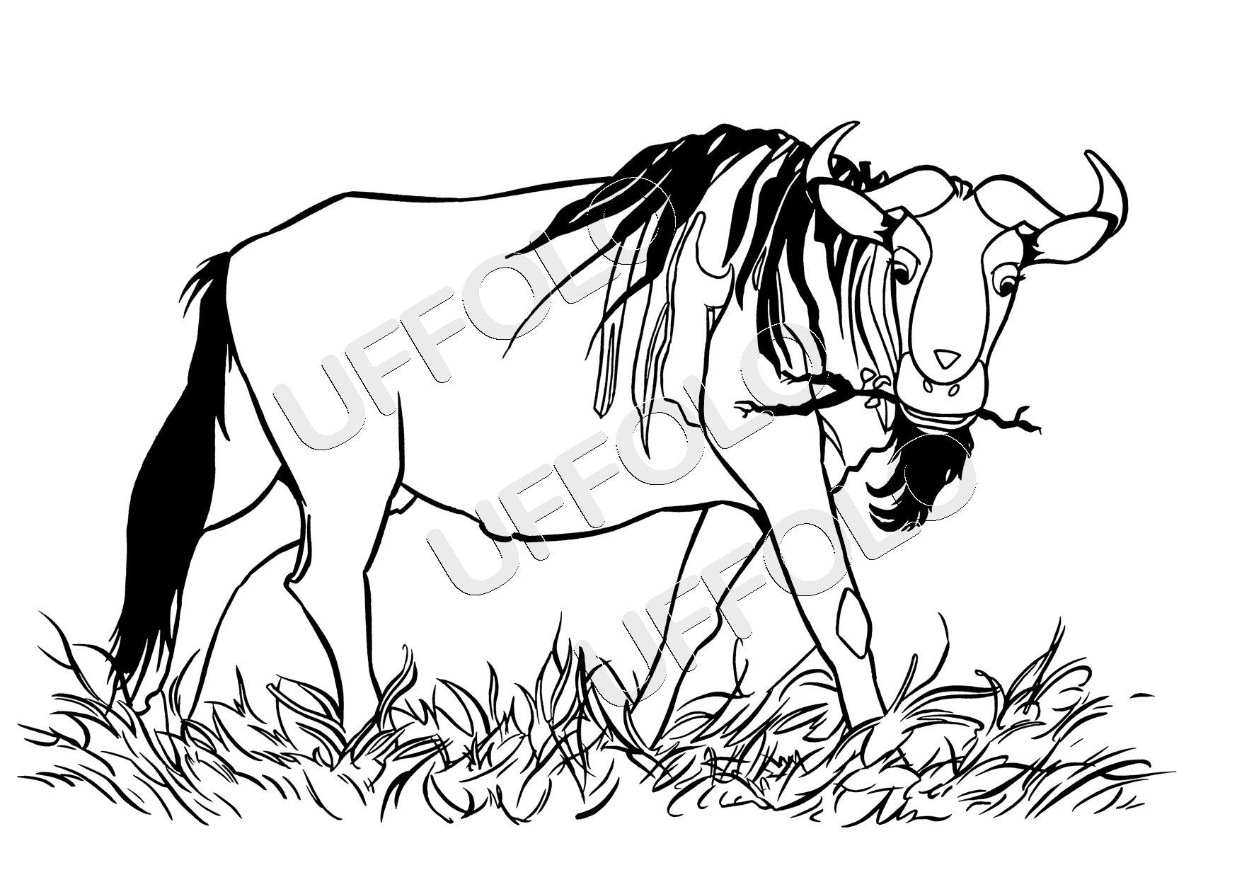 Disegni di animali africani uffolo for Disegni di cani da stampare e colorare