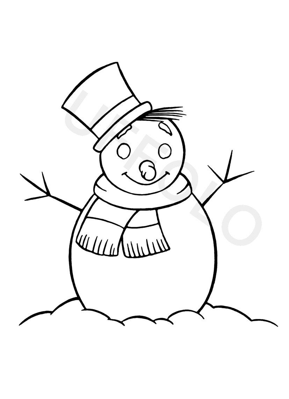 Disegno da colorare fiocco di neve 431x305 - Pupazzo di neve pagine da colorare ...