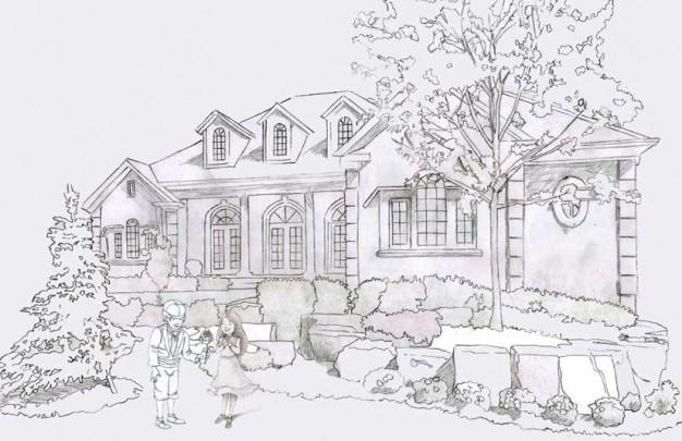 Illustrare un disegno per bambini uffolo for Paesaggi semplici da disegnare