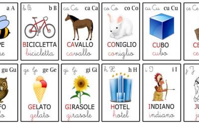 Alfabeto per bambini: giochi e schede didattiche